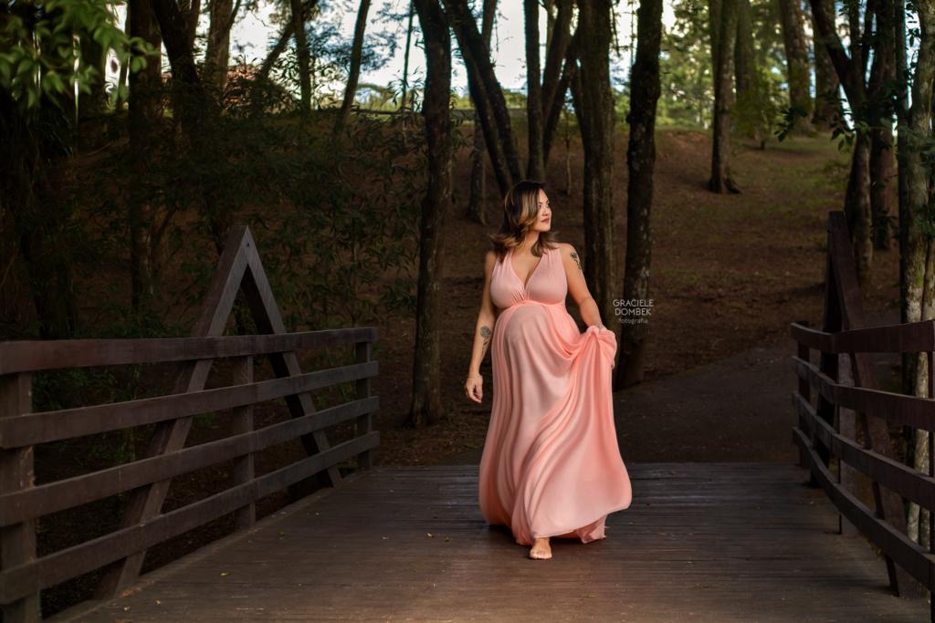 Ensaio de grávida no Parque Lago Azul Curitiba